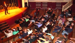 Comedy Stage Hypnosis School Event show raising money successfully for non profit an school fundraising events.
